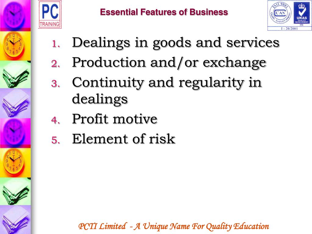 Essential Features of Business