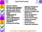 export trade procedure