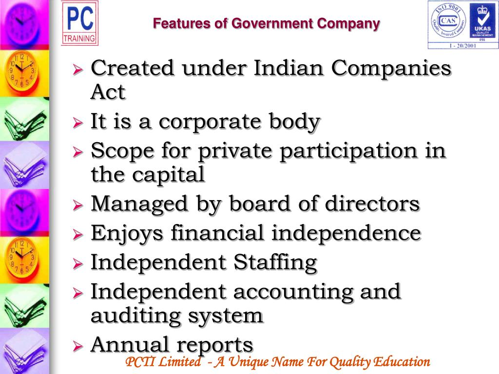 Features of Government Company