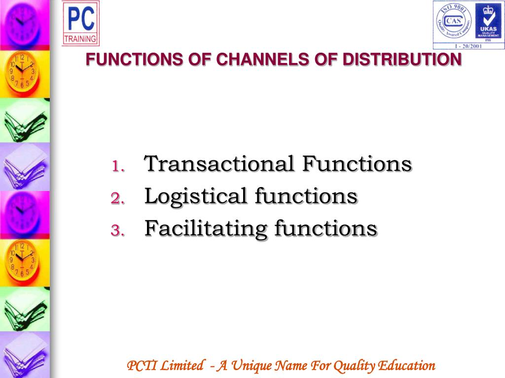 FUNCTIONS OF CHANNELS OF DISTRIBUTION