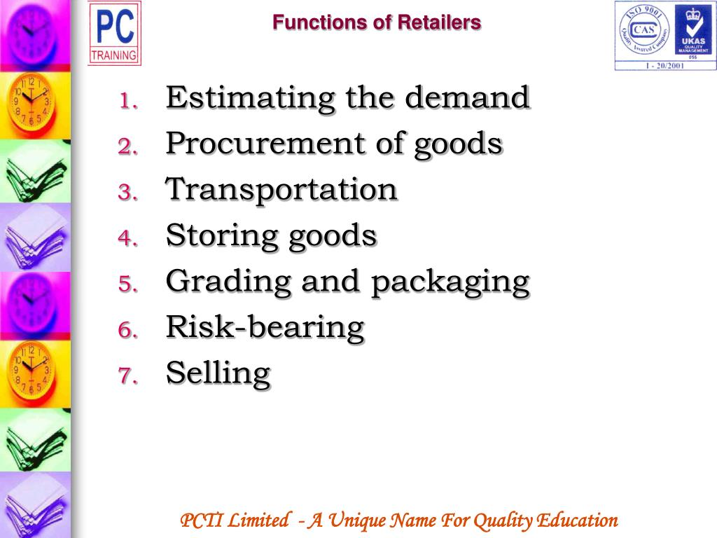 Functions of Retailers