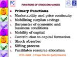functions of stock exchanges