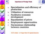 importance of foreign trade