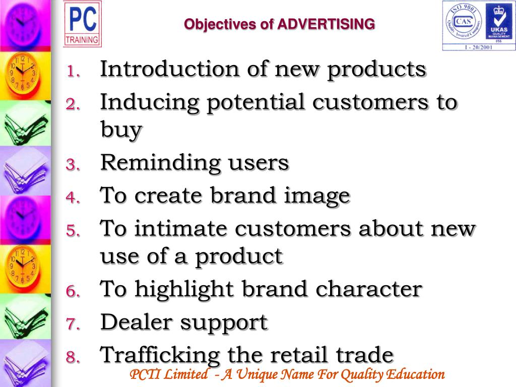 Objectives of ADVERTISING