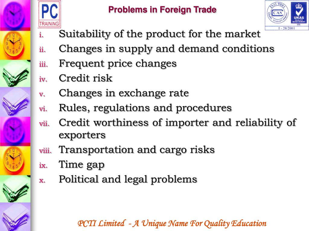 Problems in Foreign Trade