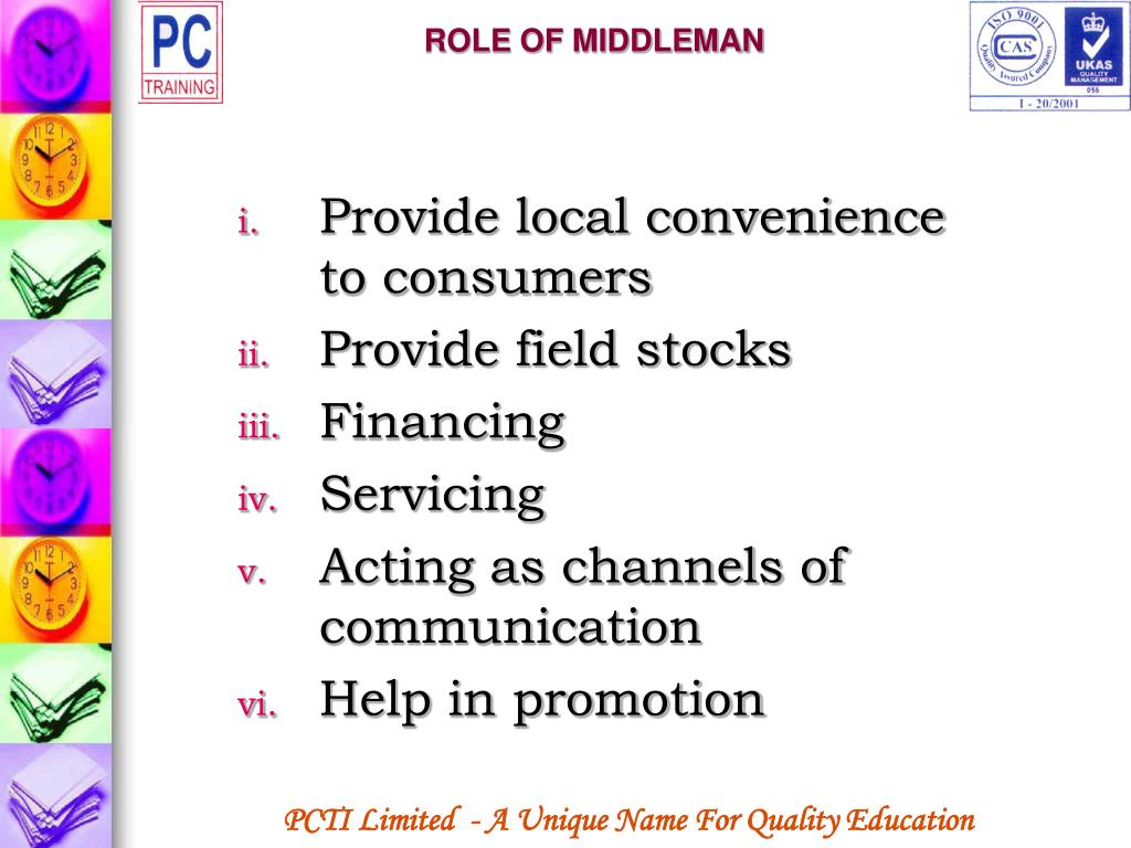 ROLE OF MIDDLEMAN