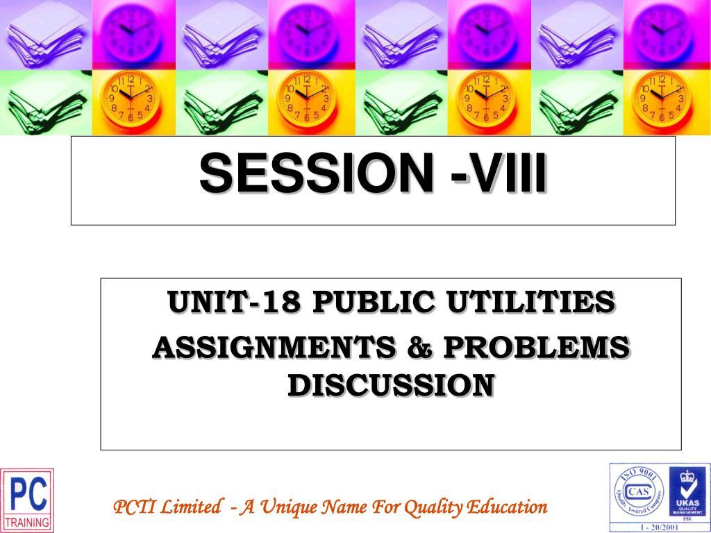 SESSION -VIII