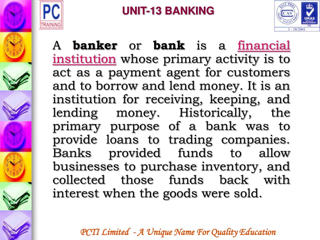 UNIT-13 BANKING