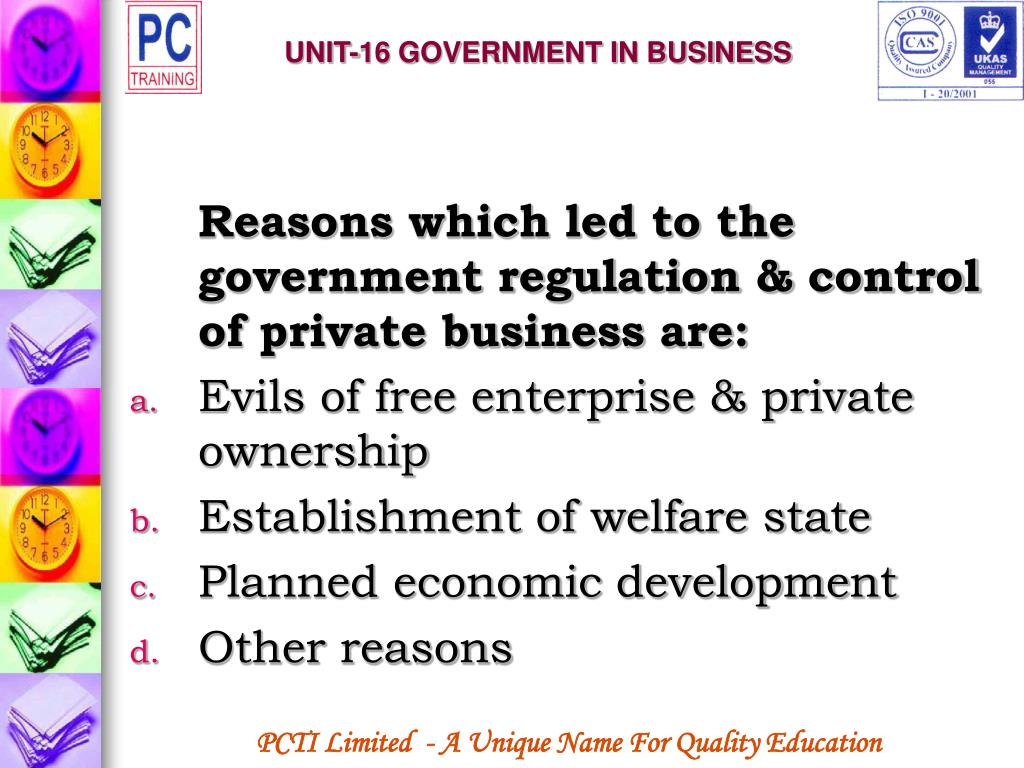 UNIT-16 GOVERNMENT IN BUSINESS