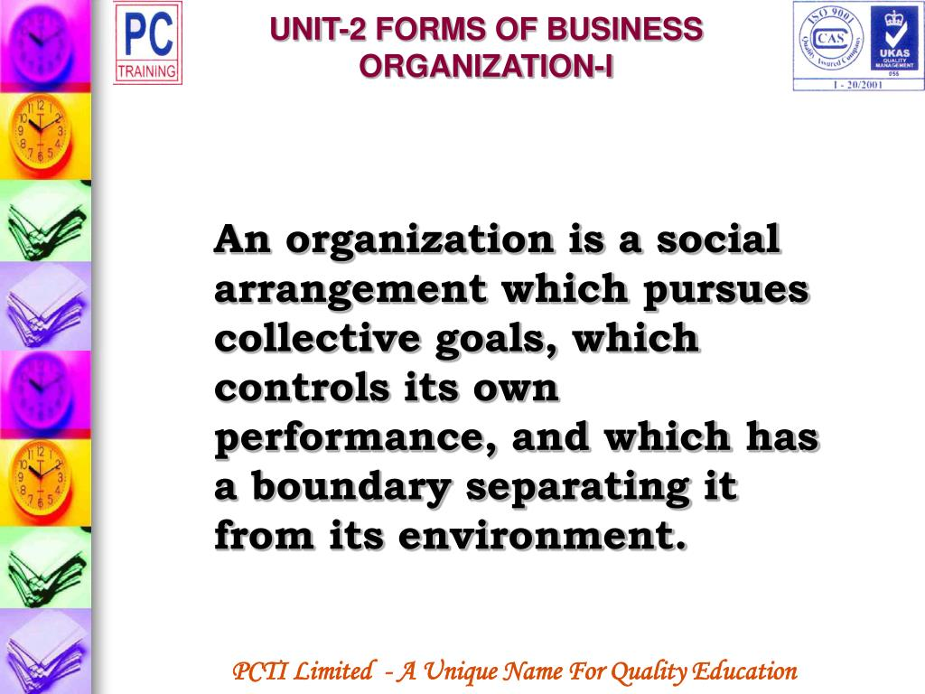 UNIT-2 FORMS OF BUSINESS ORGANIZATION-I