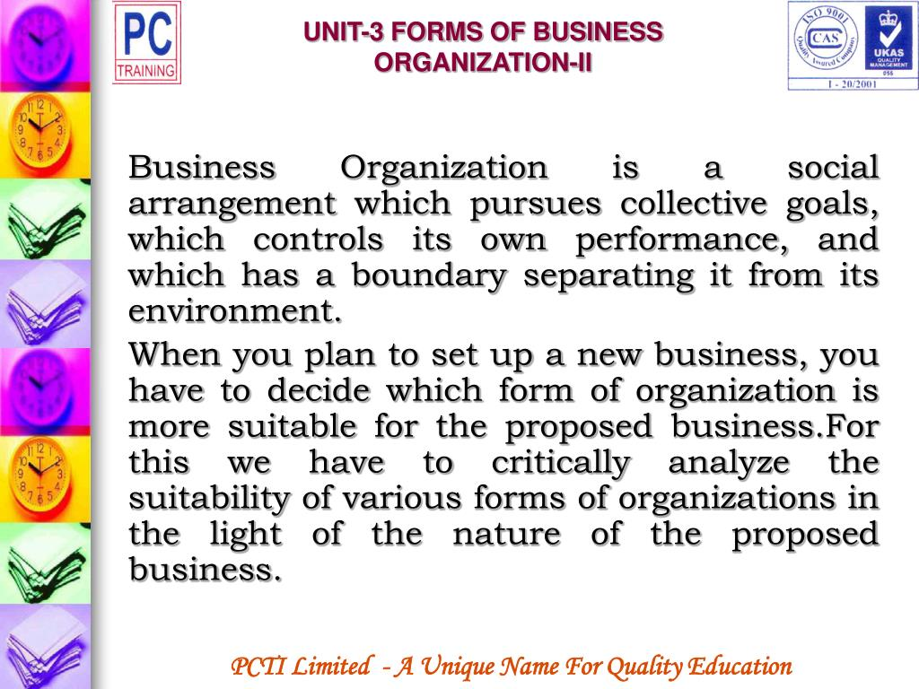 UNIT-3 FORMS OF BUSINESS ORGANIZATION-II