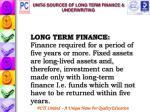unit 6 sources of long term finance underwriting