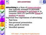 unit 8 advertising