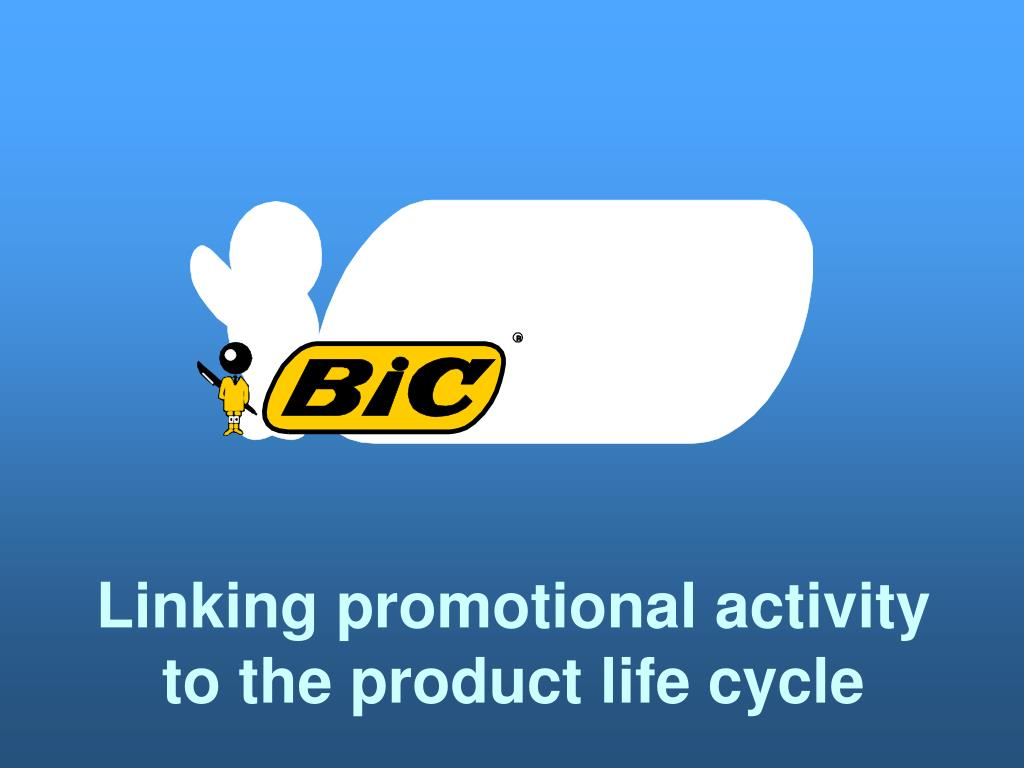Linking promotional activity to the product life cycle