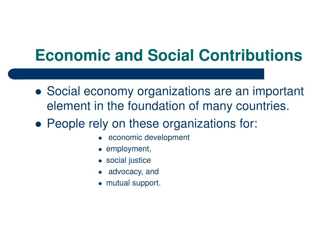 Economic and Social Contributions