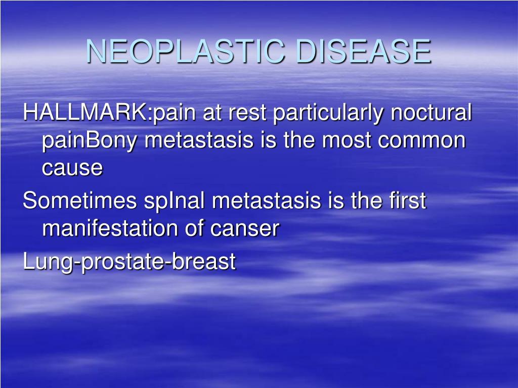 NEOPLASTIC DISEASE