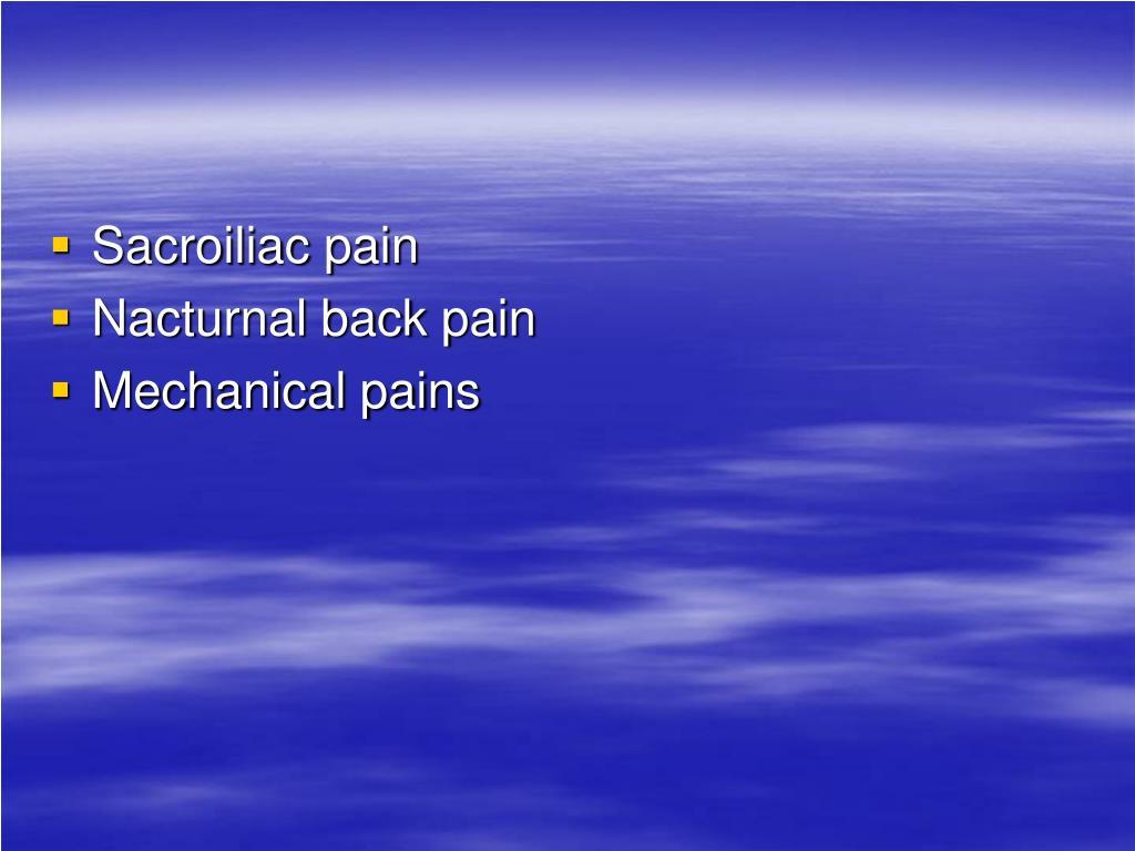 Sacroiliac pain