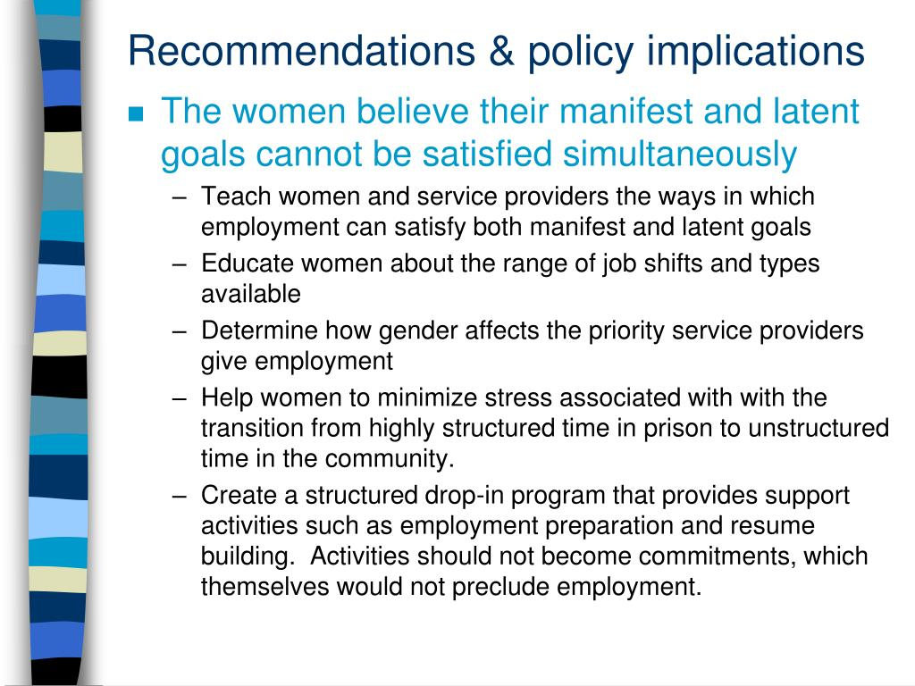 Recommendations & policy implications