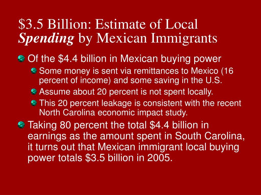 $3.5 Billion: Estimate of Local