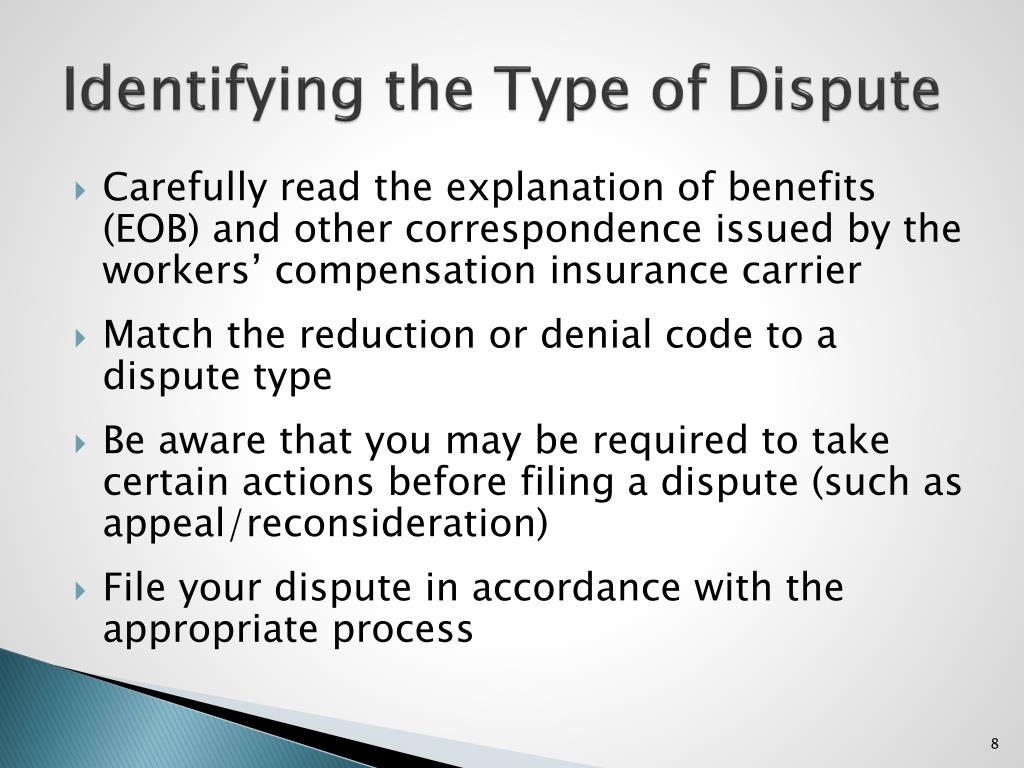 Identifying the Type of Dispute
