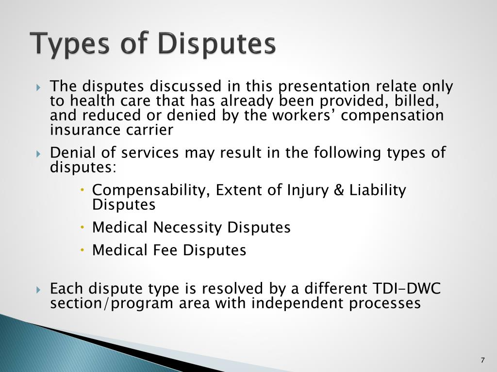Types of Disputes