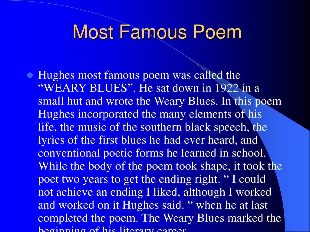 Most Famous Poem