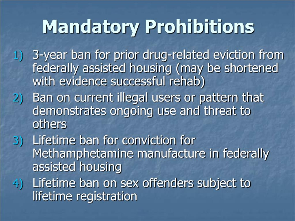 Mandatory Prohibitions