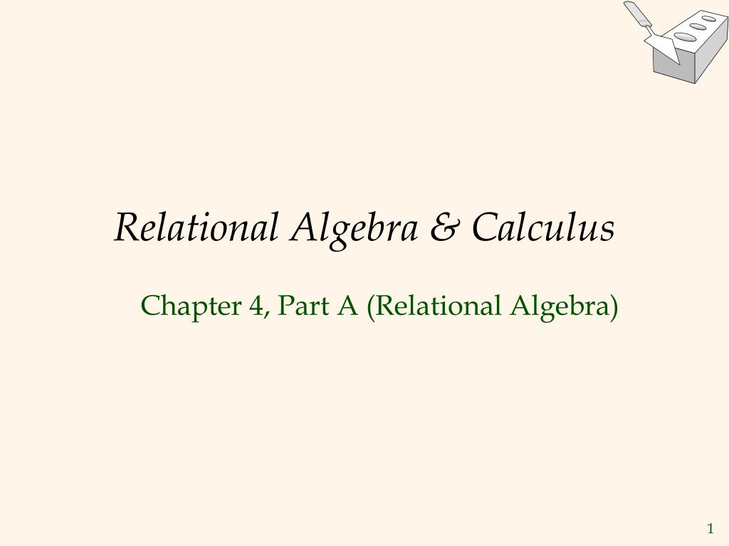 relational algebra calculus
