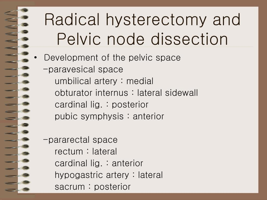 Radical hysterectomy and Pelvic node dissection
