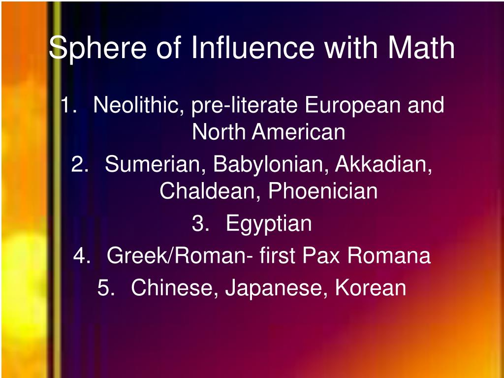 Sphere of Influence with Math