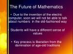 the future of mathematics