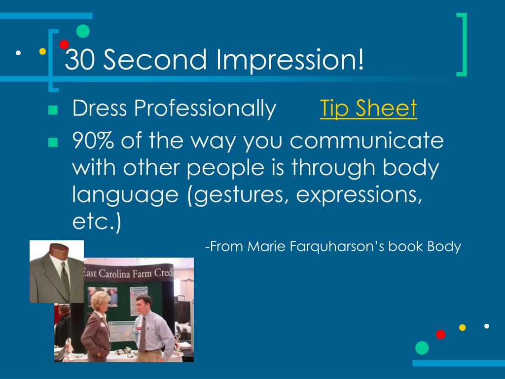 30 Second Impression!