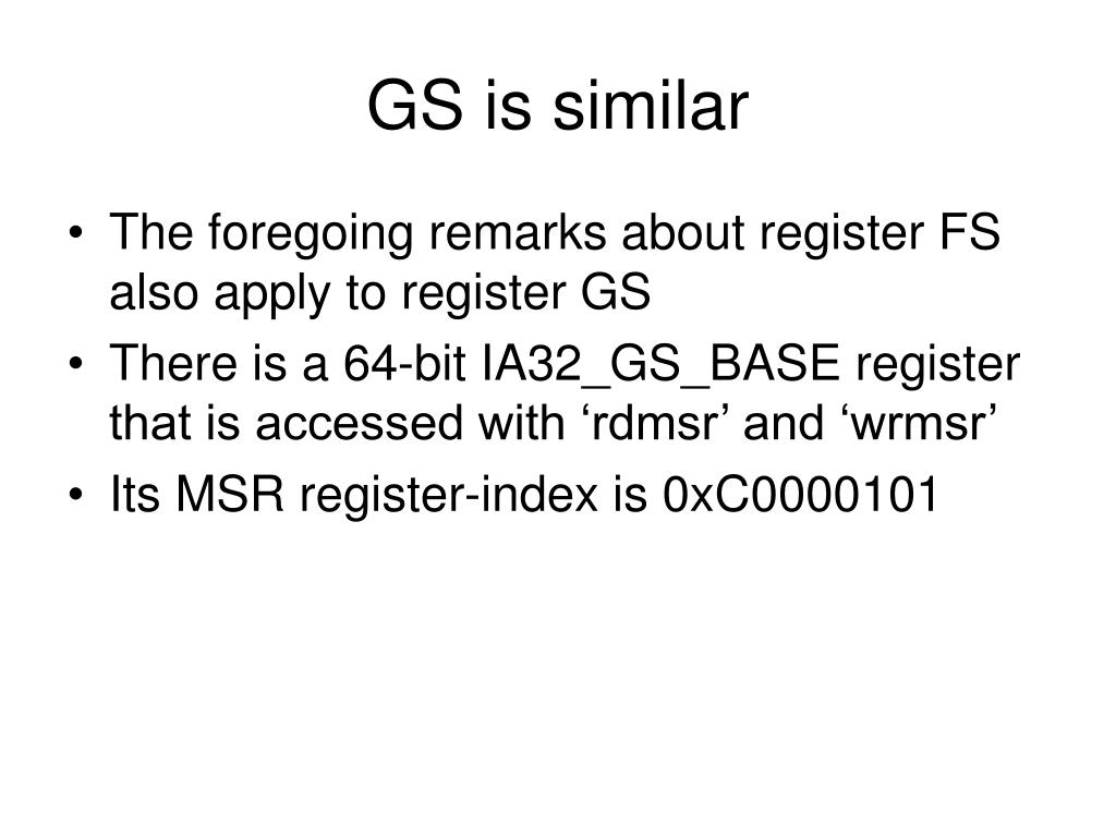 GS is similar