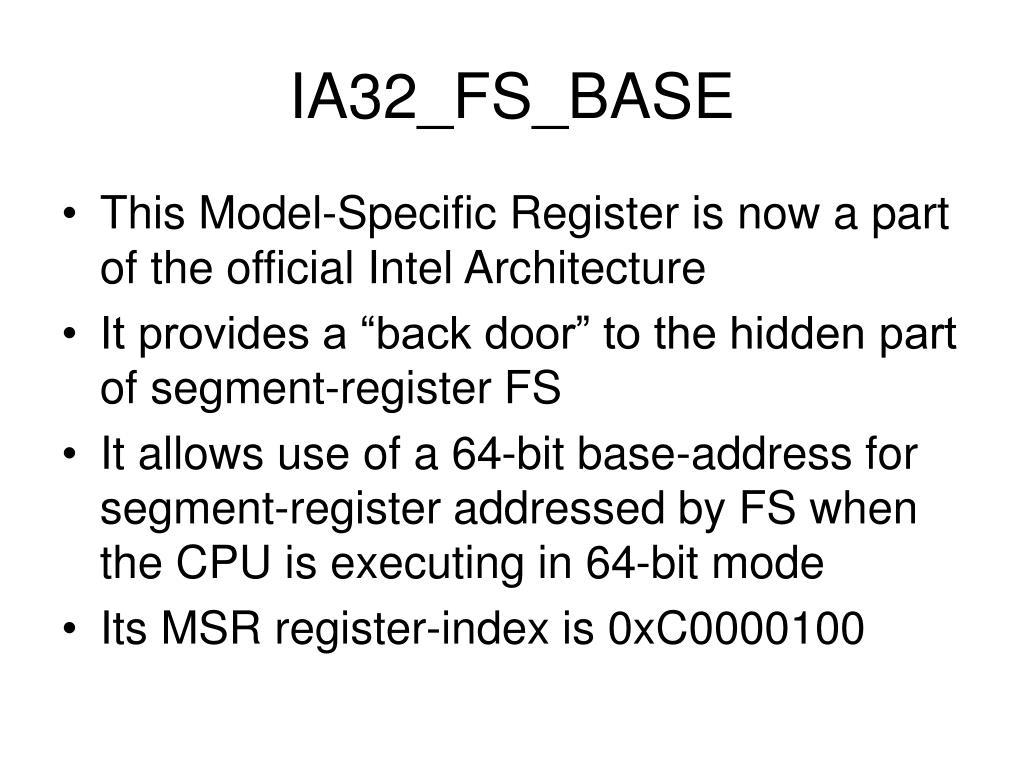 IA32_FS_BASE