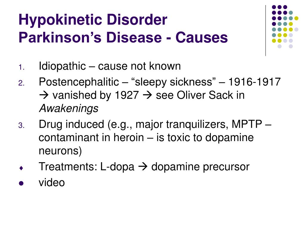 Hypokinetic Disorder