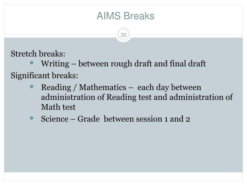 AIMS Breaks