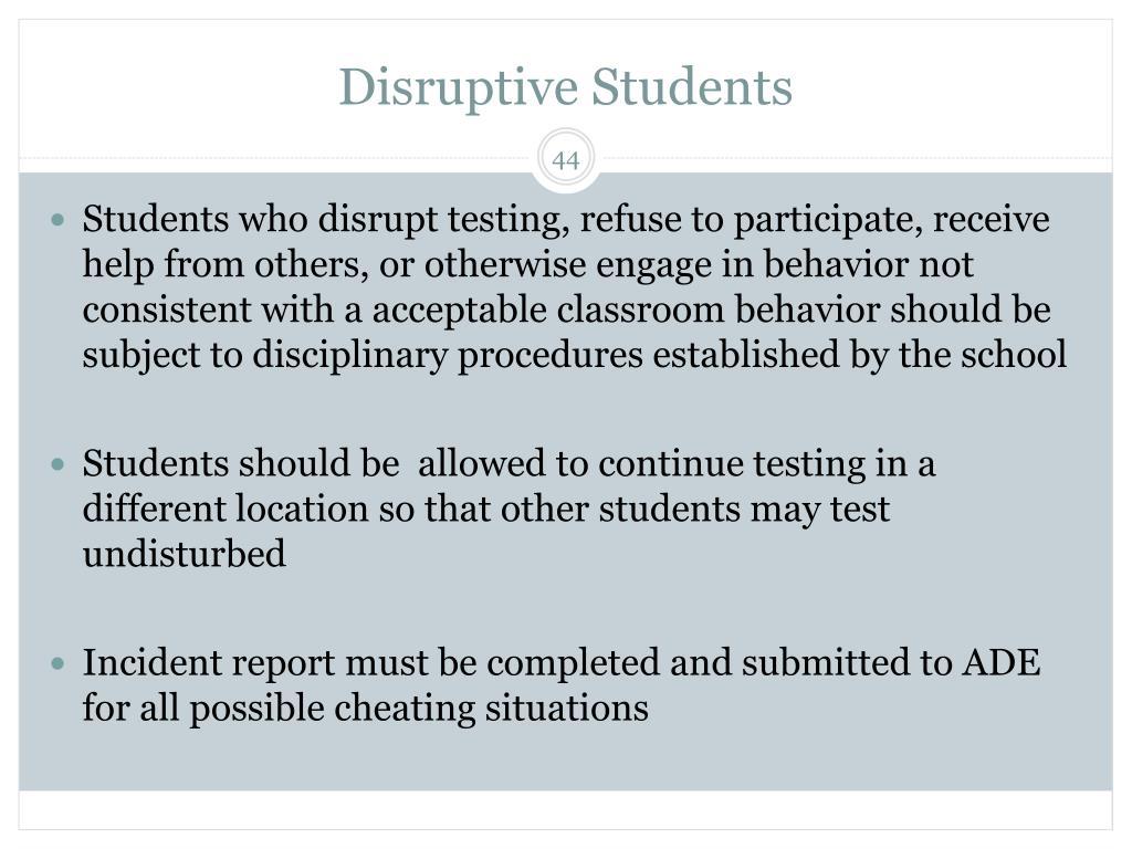 Disruptive Students