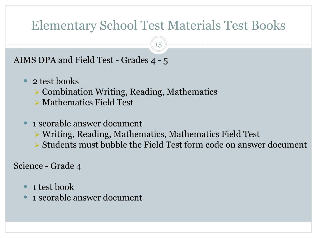 Elementary School Test Materials Test Books