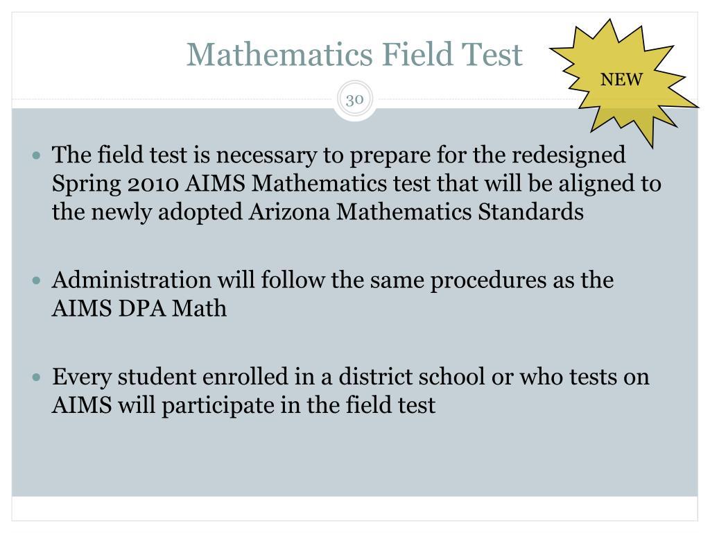 Mathematics Field Test