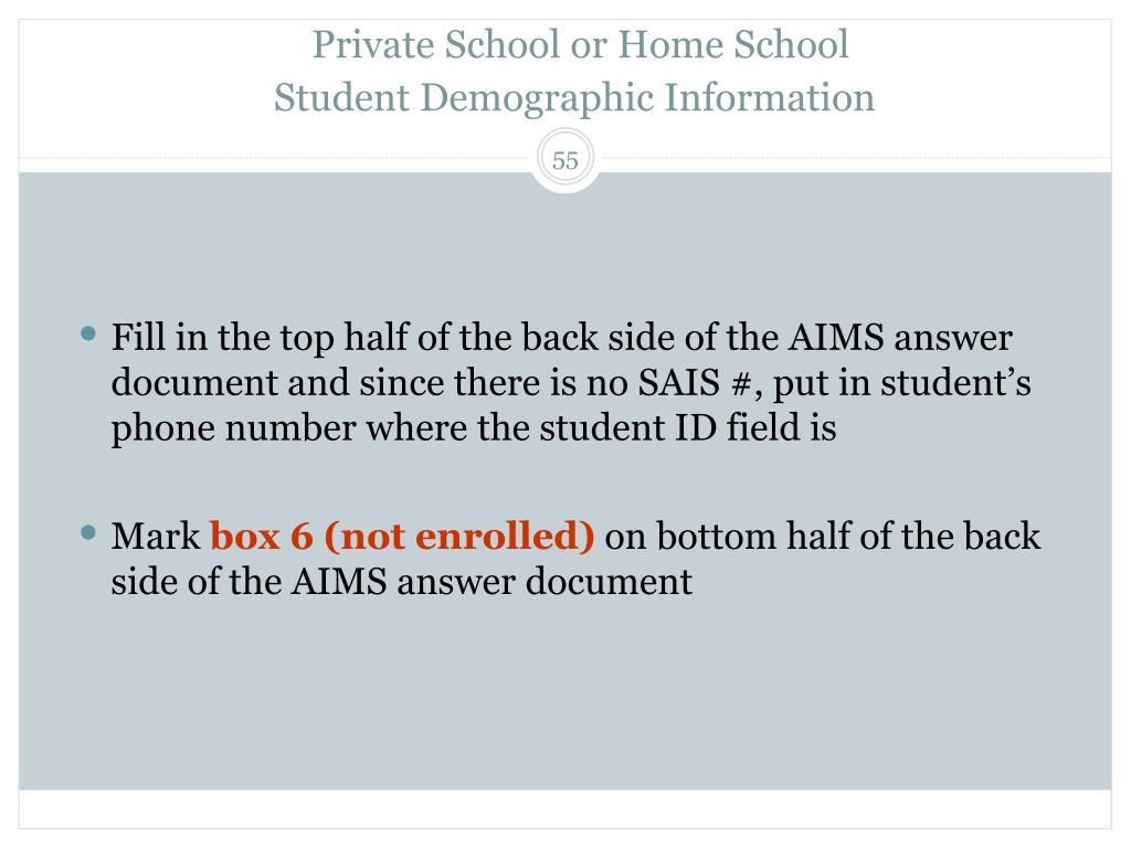 Private School or Home School