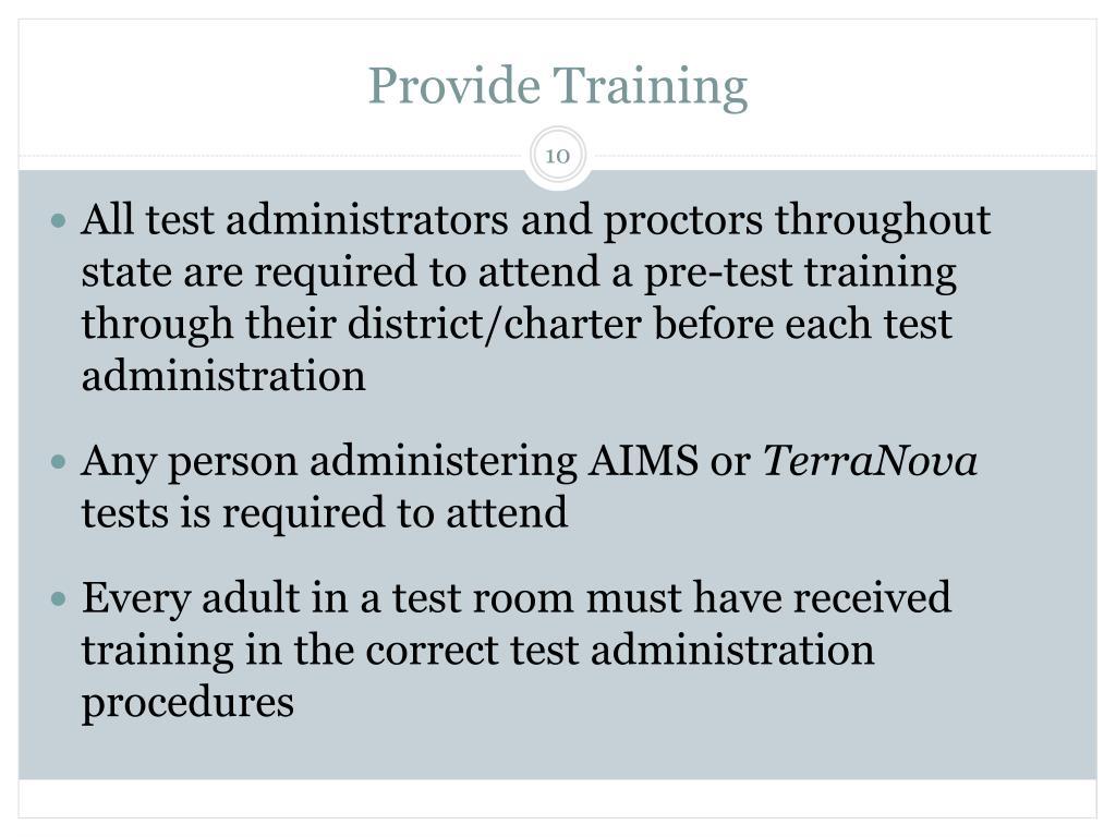 Provide Training