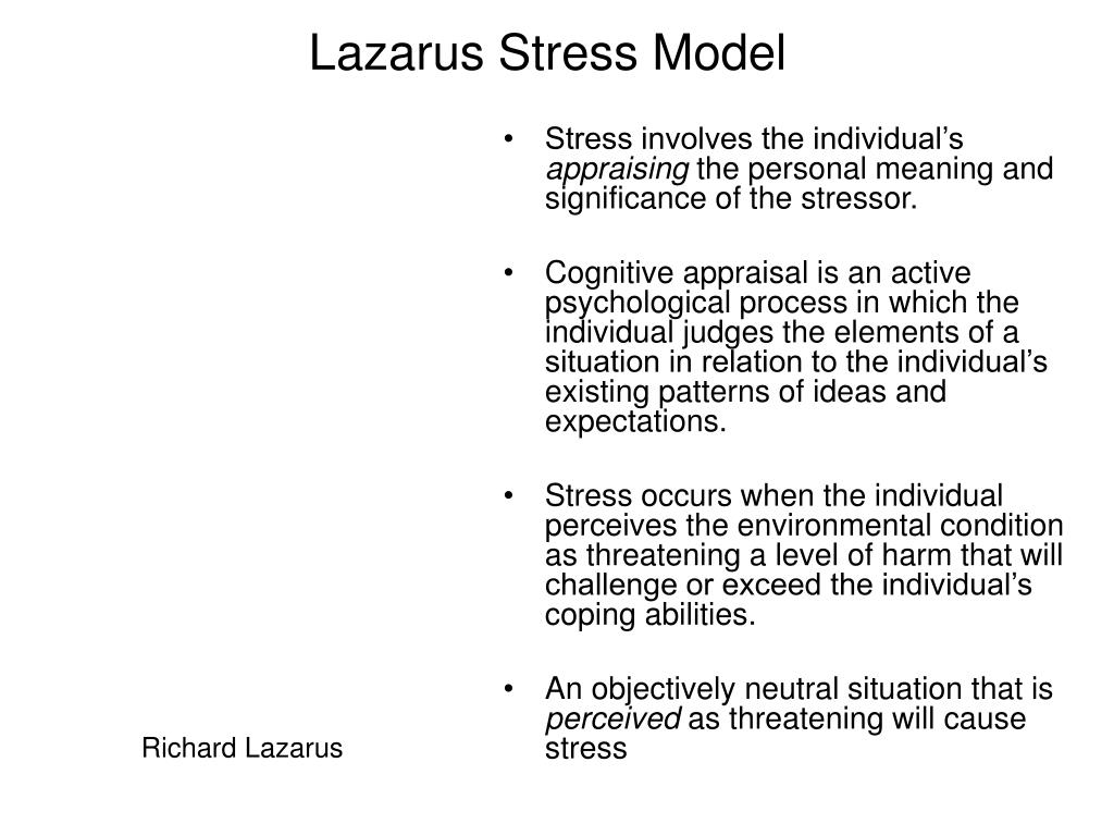 Lazarus Stress Model