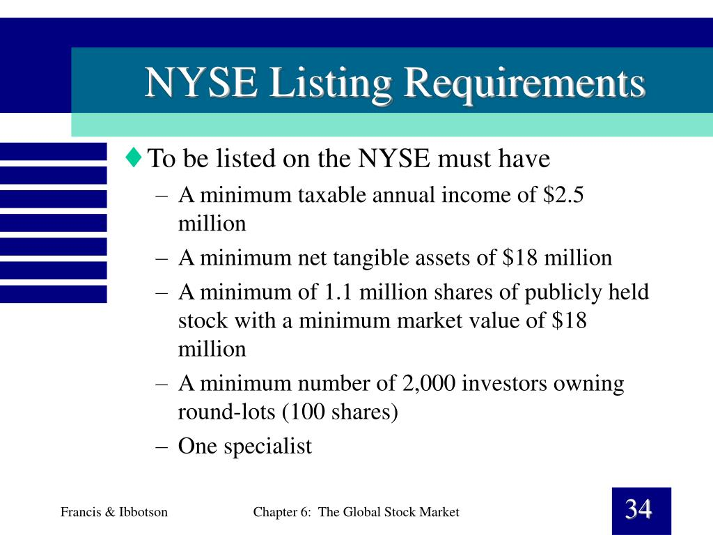 NYSE Listing Requirements