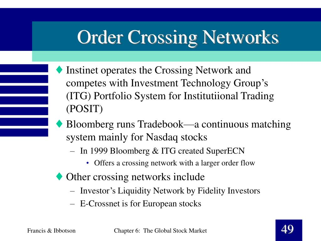 Order Crossing Networks