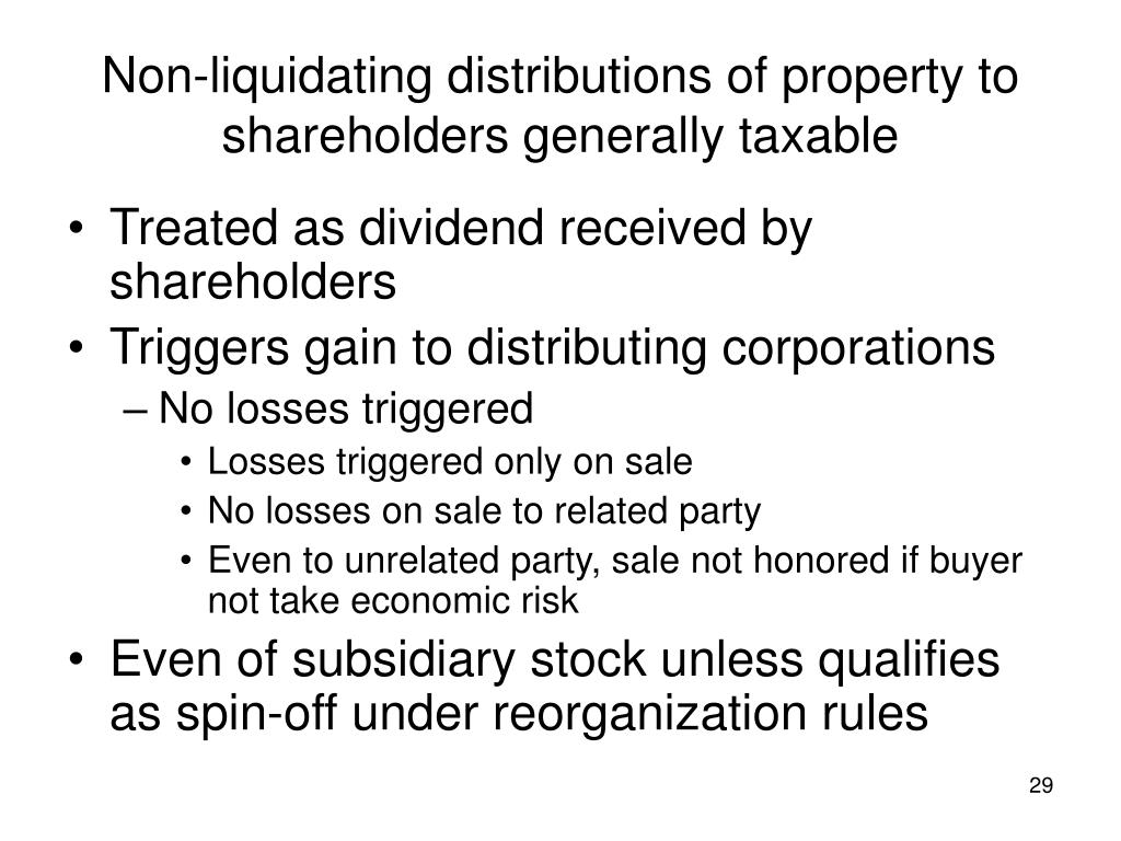in a stock redemption would corporate and noncorporate shareholders have the same preference for tax Of their stock who pays the corporate tax  the same between owners of stock and debt this  redemption from noncorporate sh in partial.
