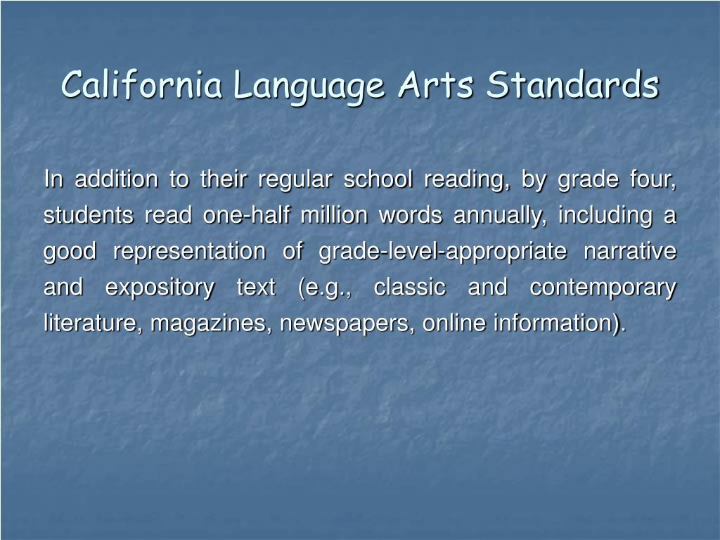 California Language Arts Standards