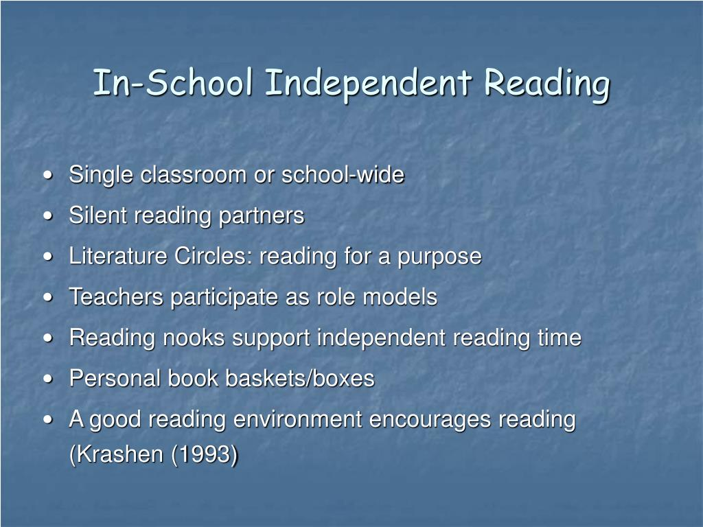 In-School Independent Reading
