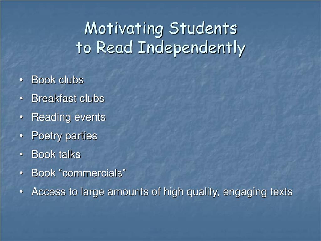 Motivating Students
