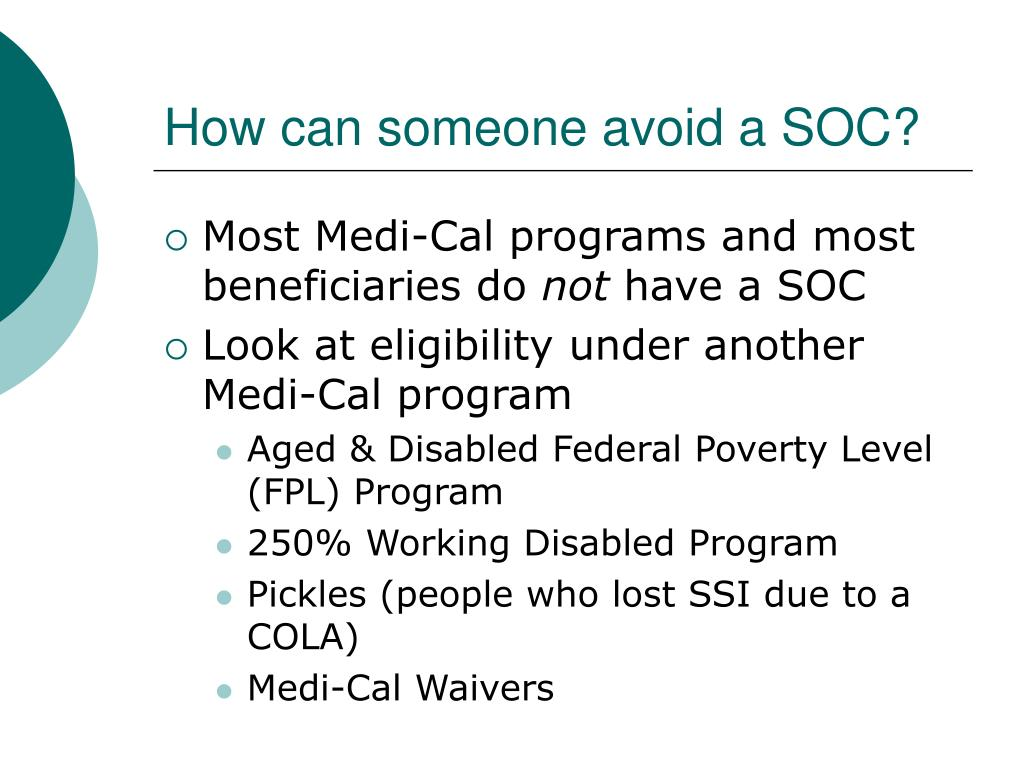 How can someone avoid a SOC?