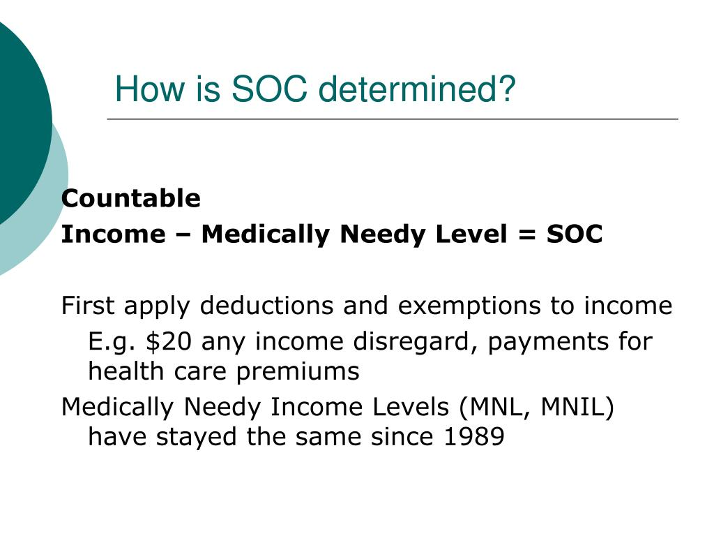 How is SOC determined?